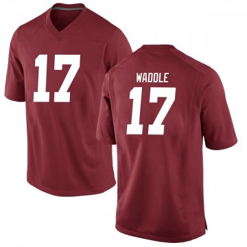 Men's Jaylen Waddle Alabama Crimson Tide Nike Replica Crimson Football College Jersey