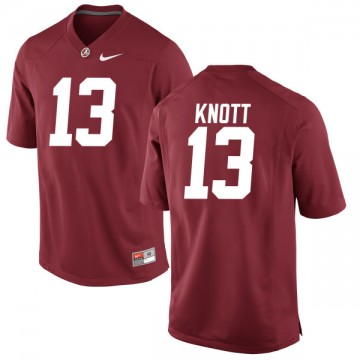 Men's Nigel Knott Alabama Crimson Tide Replica Jersey - Crimson