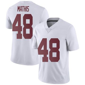 Men's Phidarian Mathis Alabama Crimson Tide Nike Limited White Football College Jersey
