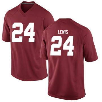 Men's Terrell Lewis Alabama Crimson Tide Nike Game Crimson Football College Jersey