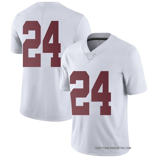 Men's Terrell Lewis Alabama Crimson Tide Nike Limited White Football College Jersey