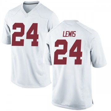 Men's Terrell Lewis Alabama Crimson Tide Nike Replica White Football College Jersey
