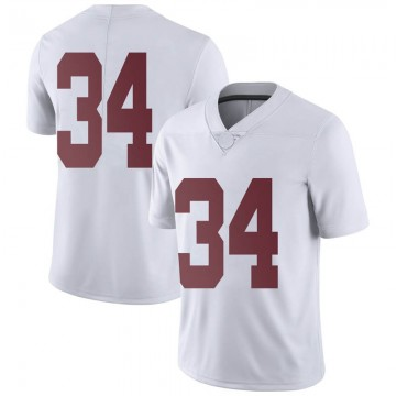 Men's Tevin Mack Alabama Crimson Tide Nike Limited White Football College Jersey