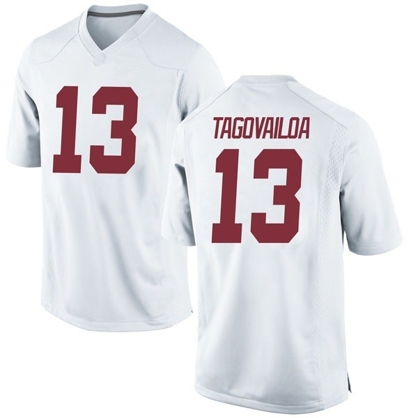 Men's Tua Tagovailoa Alabama Crimson Tide Nike Game White Football College Jersey