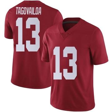 Men's Tua Tagovailoa Alabama Crimson Tide Nike Limited Crimson Football College Jersey