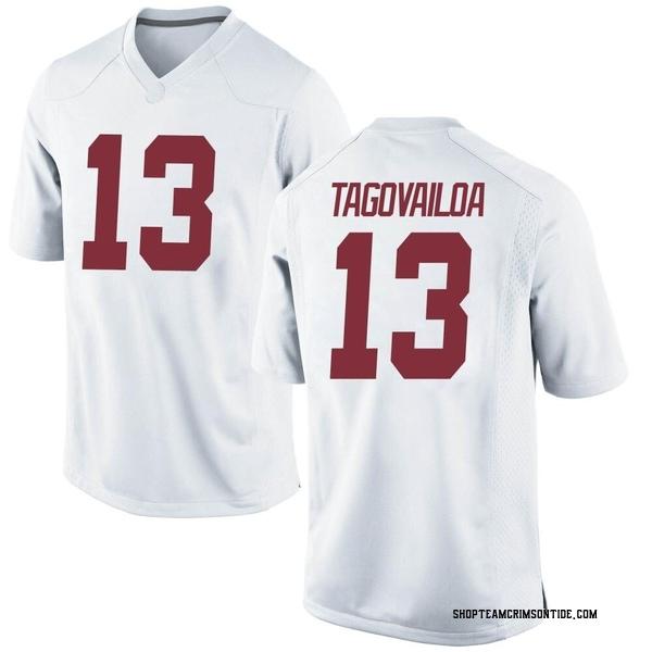 Men's Tua Tagovailoa Alabama Crimson Tide Nike Replica White Football College Jersey