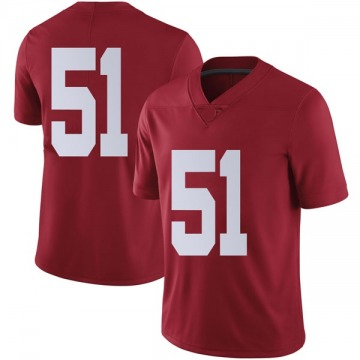 Men's Wes Baumhower Alabama Crimson Tide Nike Limited Crimson Football College Jersey