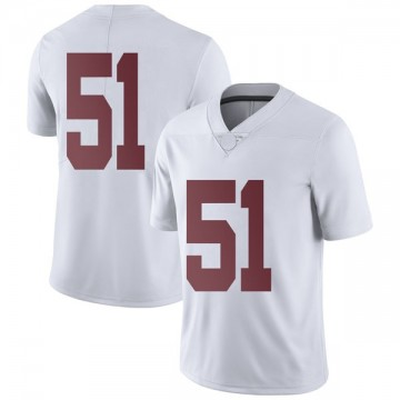 Men's Wes Baumhower Alabama Crimson Tide Nike Limited White Football College Jersey