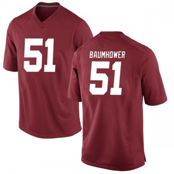 Men's Wes Baumhower Alabama Crimson Tide Nike Replica Crimson Football College Jersey