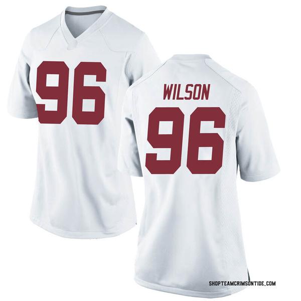 Women's Taylor Wilson Alabama Crimson Tide Nike Game White Football College Jersey