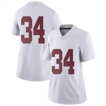 Women's Tevin Mack Alabama Crimson Tide Nike Limited White Football College Jersey