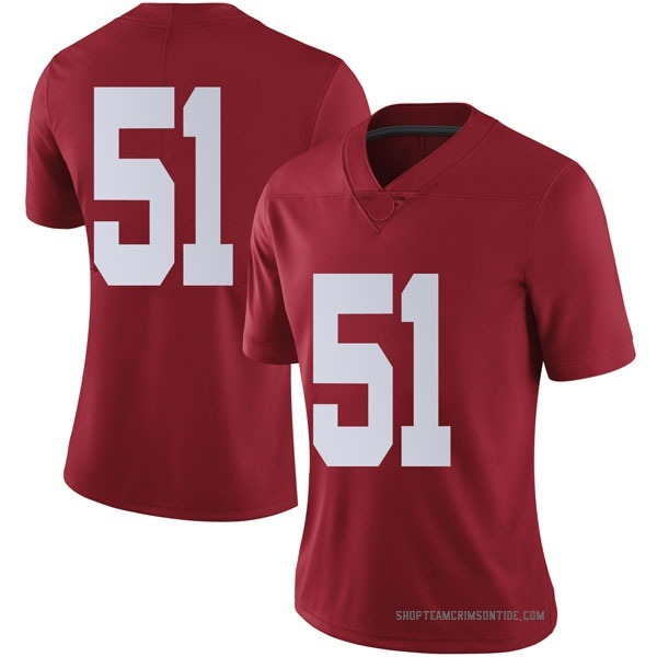 Women's Wes Baumhower Alabama Crimson Tide Nike Limited Crimson Football College Jersey