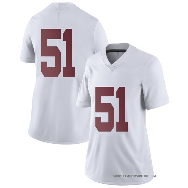 Women's Wes Baumhower Alabama Crimson Tide Nike Limited White Football College Jersey