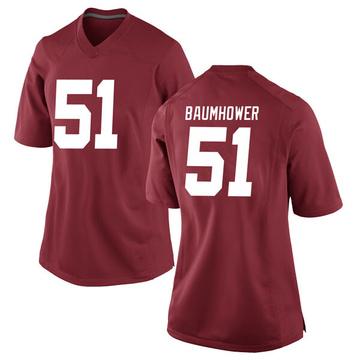 Women's Wes Baumhower Alabama Crimson Tide Nike Replica Crimson Football College Jersey