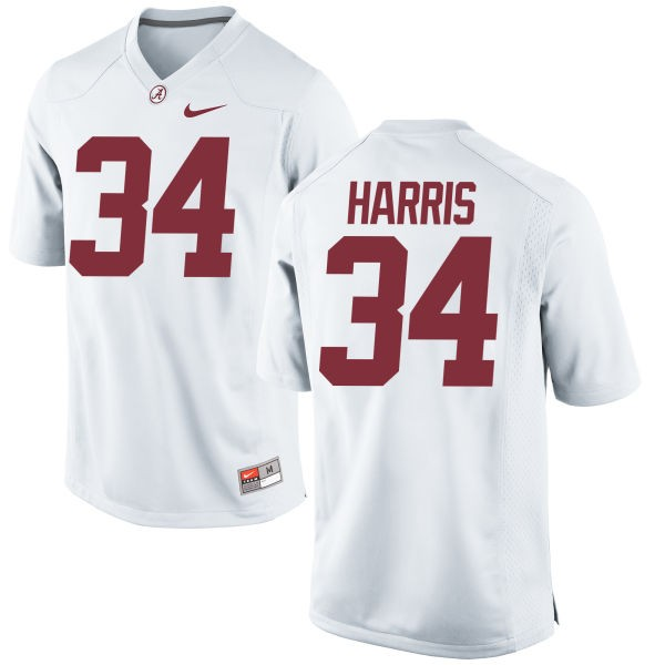 Youth Damien Harris Alabama Crimson Tide Nike Replica White Jersey -