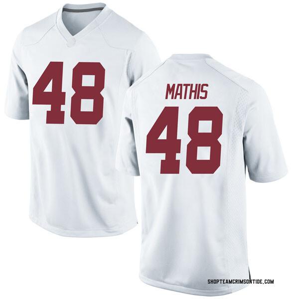 Youth Phidarian Mathis Alabama Crimson Tide Nike Game White Football College Jersey