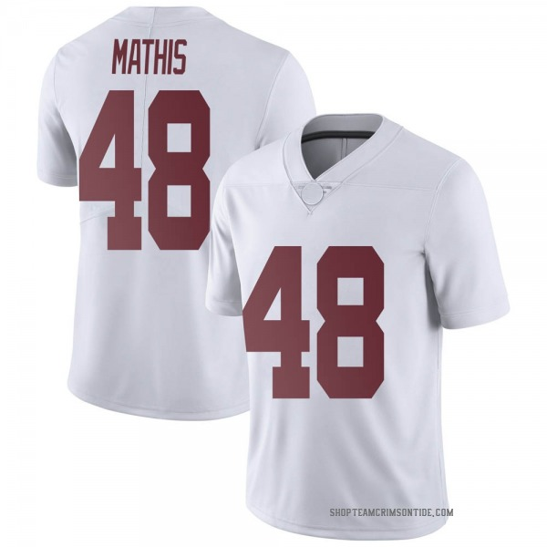 Youth Phidarian Mathis Alabama Crimson Tide Nike Limited White Football College Jersey