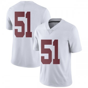 Youth Wes Baumhower Alabama Crimson Tide Nike Limited White Football College Jersey